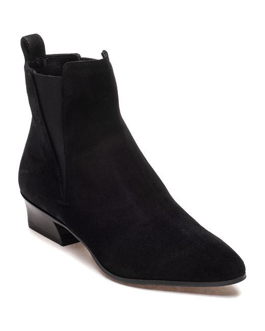 aquatalia fausta suede ankle boots in black lyst