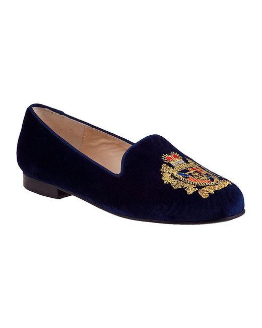 Jon Josef | Blue Crest Velvet Loafers | Lyst