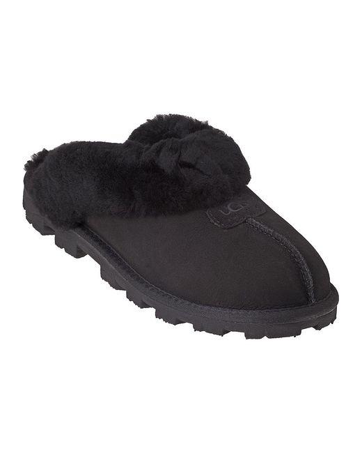 Ugg   Black Coquette Sheepskin Slippers   Lyst