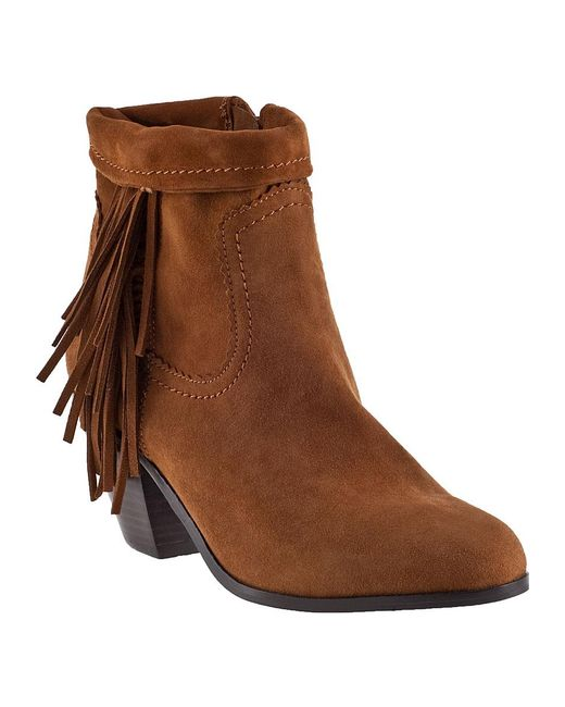 Sam Edelman | Brown Louie Fringe Boot | Lyst