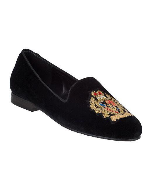 Jon Josef | Black G-Emblem Velvet Loafers  | Lyst