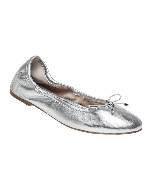 Sam Edelman Metallic Felicia Leather Ballet Flats