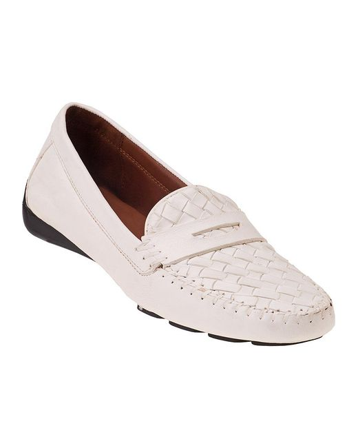 Robert Zur | Petra Penny Loafer White Leather | Lyst