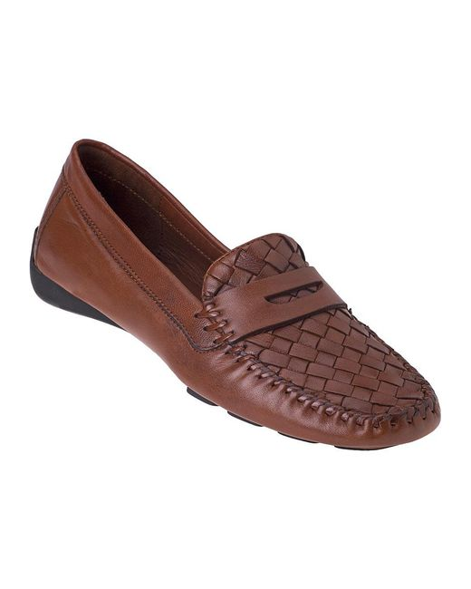 Robert Zur   Brown Petra Penny Loafer Luggage Leather   Lyst