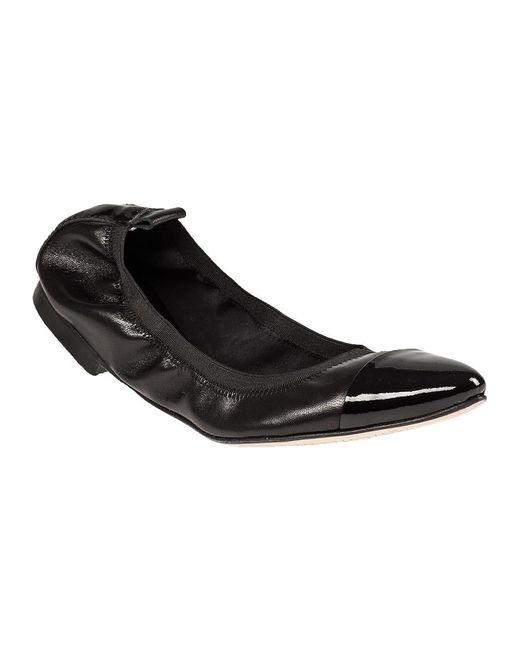 275 Central - Black Patent Point Toe Flat - Lyst