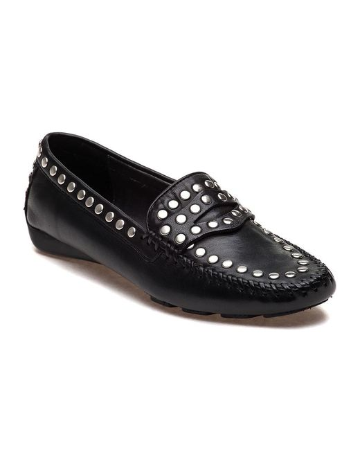Robert Zur - Black Tango Studded Leather Loafers - Lyst