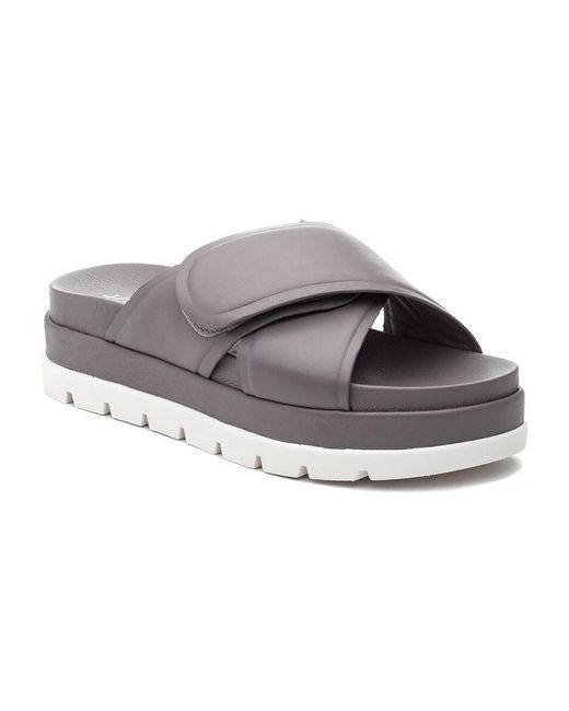 J/Slides Gray Bella Sandal Grey Leather