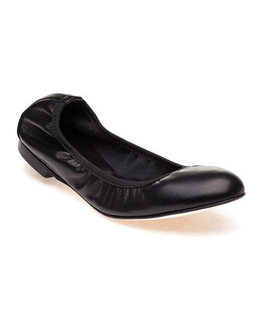 275 Central | Sydnee L073 Black Leather Flat | Lyst