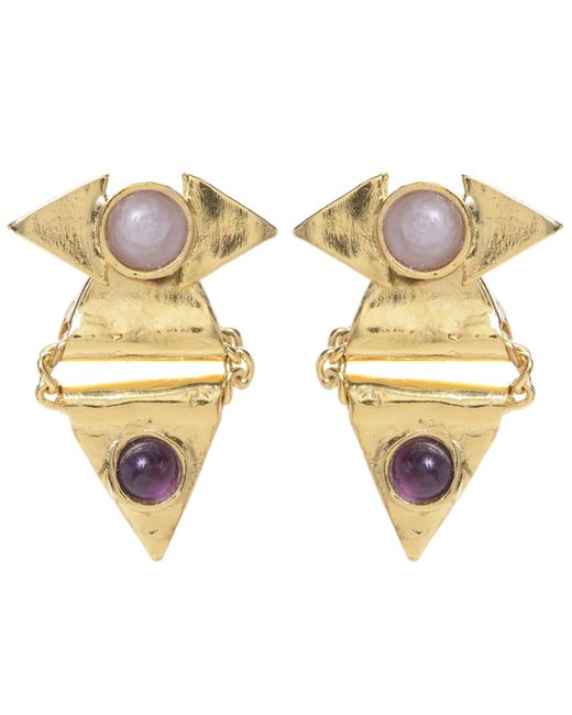Jill Golden | Yellow Reflection Triangle Earring | Lyst