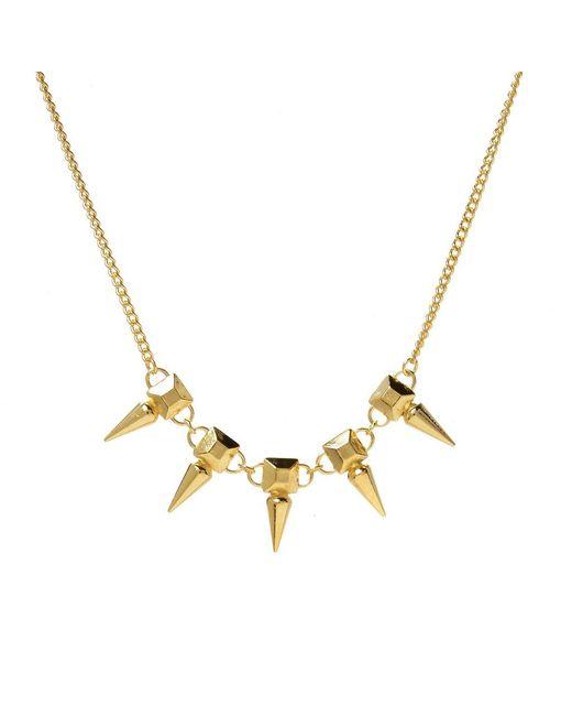 Jill Golden | Yellow Pyramid Spike Necklace | Lyst