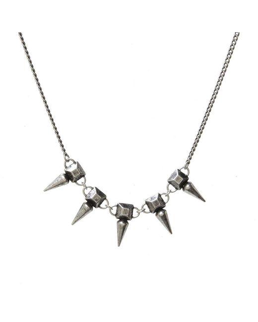 Jill Golden | Metallic Pyramid Spike Necklace | Lyst