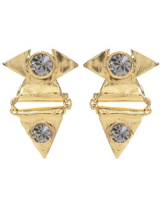 Jill Golden | Metallic Crystal Reflection Triangle Earring | Lyst
