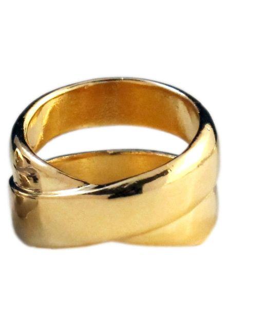 Jill Golden | Metallic Crossover Ring | Lyst