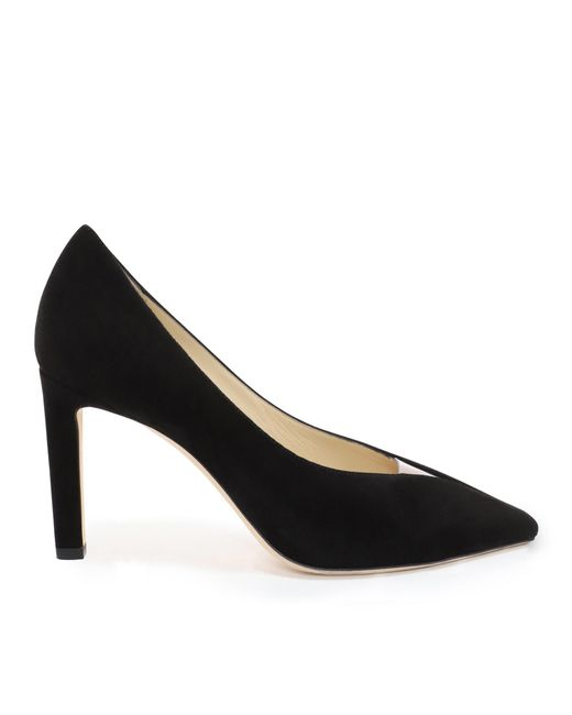 6504149be563 Jimmy Choo - Baker 85 Black Suede Pointed Toe Pumps With Plexi Insert - Lyst  ...