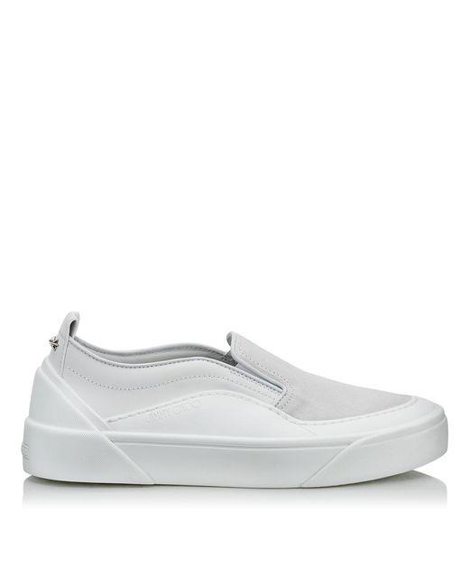 Choo V.B.C Slip On/F Baskets Sans Lacets En Daim Et Cuir Doux Jimmy Choo en coloris White