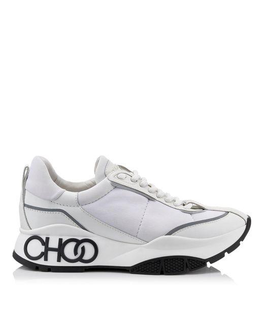 Raine Baskets En Cuir De Veau Noprne Et Cuir Caoutchout Jimmy Choo en coloris White