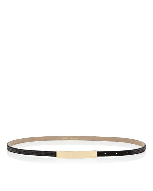 Jimmy Choo | Blossom Black Suede Belt With Crystals | Lyst