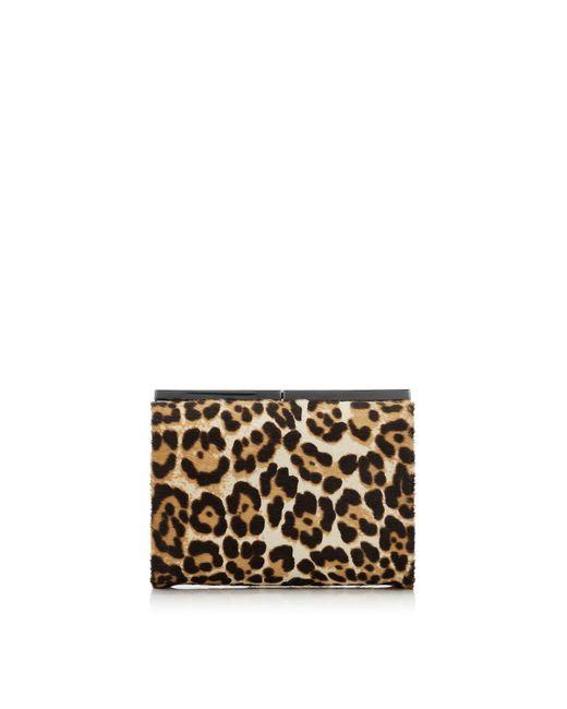 Jimmy Choo | Natural Cate Leopard Print Pony Clutch Bag | Lyst