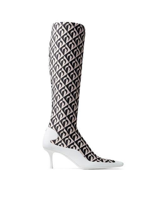 Jimmy Choo Jc X Ms Sock Calf Boot Black