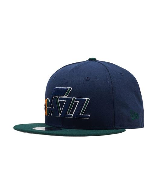 latest cost charm classic styles KTZ Synthetic Utah Jazz 9fifty Snapback Hat in Navy (Blue) for Men ...