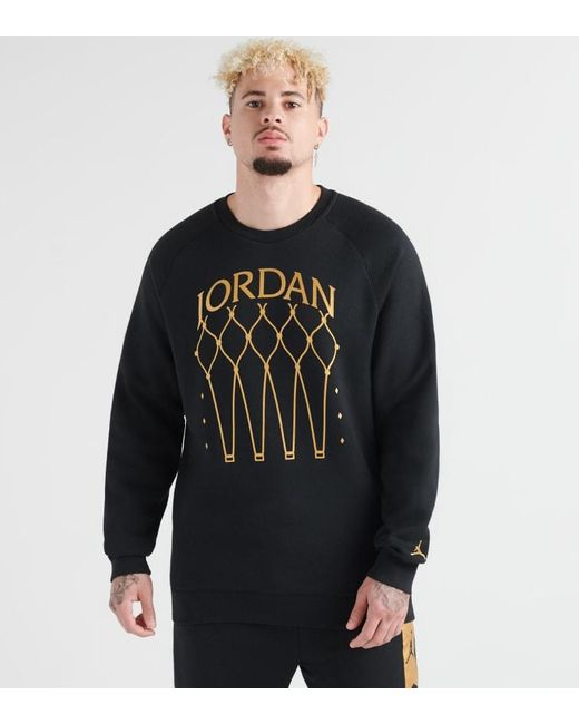 mejor baratas disponible baratas para la venta Nike Jumpman Air Trophy Fleece Crew in Black for Men - Lyst