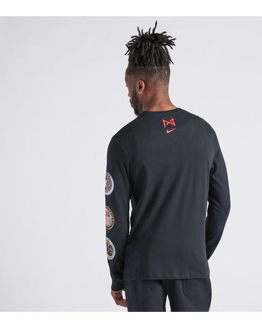 8b3c1a3f ... Nike - Black Nasa Space Tee for Men - Lyst ...