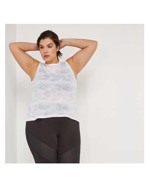 Joe Fresh White Women+ Burnout Tank
