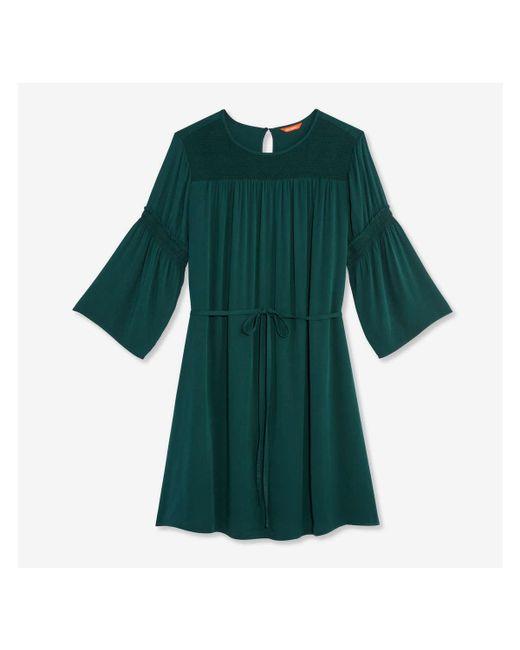 52c71654acf13b ... Joe Fresh - Green Women+ Smocked Dress - Lyst