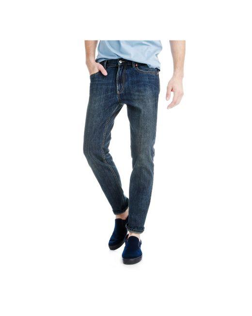 Joe Fresh | Blue Men's Slim Straight Vintage Wash Jean for Men | Lyst