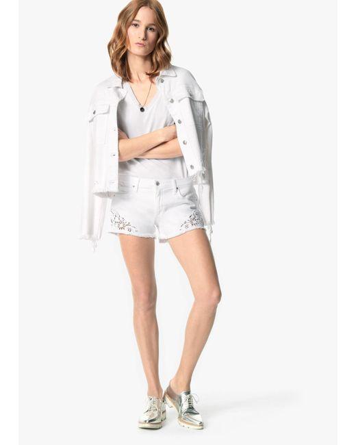 Joe's Jeans - White Cut-off Shorts - Lyst