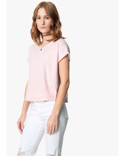 Joe's Jeans | Pink Hunter Crop Tee | Lyst