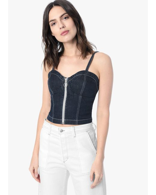 Joe's Jeans - Blue Taylor Hill X Joe's | Zip Front Bustier - Lyst