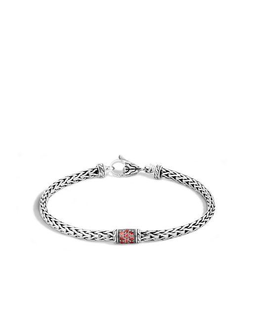John Hardy | Metallic Classic Chain Bracelet With Gemstone | Lyst