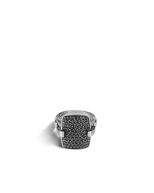 John Hardy | Classic Chain Ring With Black Sapphire | Lyst