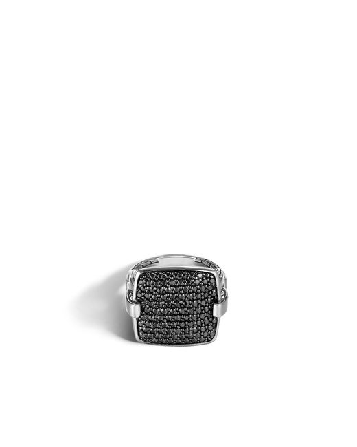 John Hardy | Metallic Classic Chain Ring With Black Sapphire | Lyst
