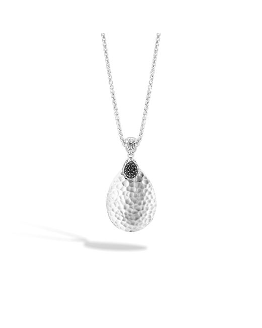 John Hardy | Metallic Classic Chain Hammered Pendant Necklace With Black Sapphire | Lyst