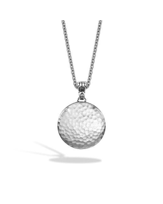 John Hardy   Metallic Hammered Pendant Necklace   Lyst