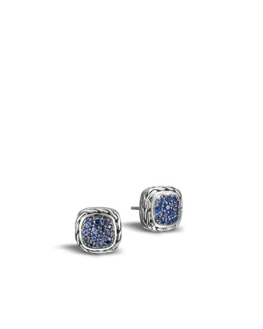 John Hardy | Classic Chain Stud Earring With Blue Sapphire | Lyst
