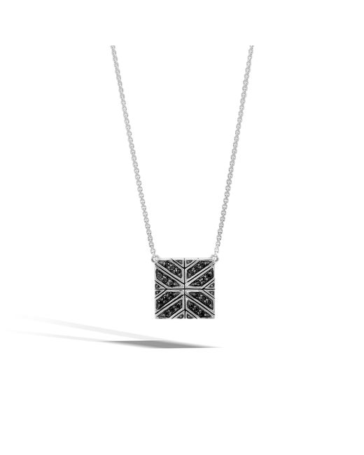 John Hardy - Modern Chain Necklace With Black Sapphire - Lyst