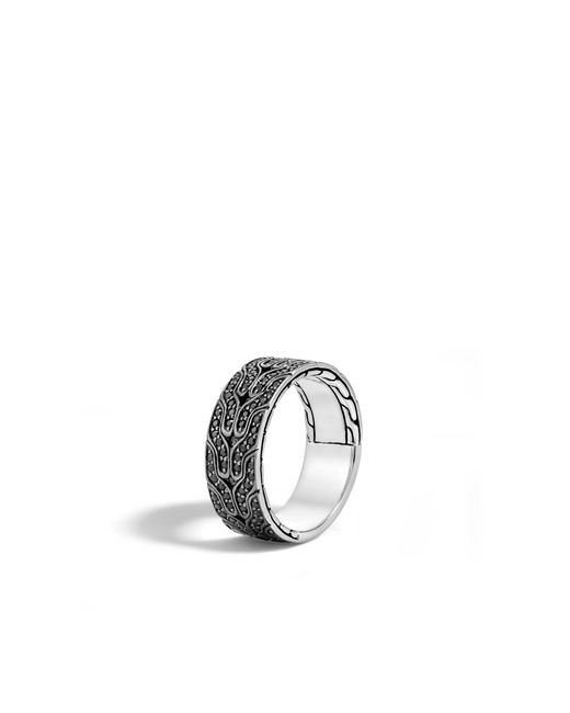 John Hardy | Classic Chain Band Ring With Black Sapphire for Men | Lyst