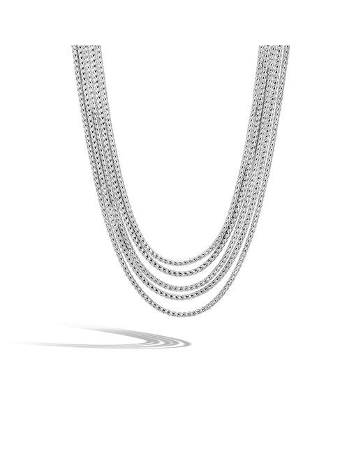 John Hardy | Metallic Classic Chain Five Row Necklace | Lyst