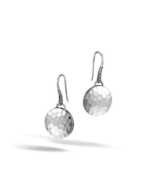 John Hardy - Metallic Drop Hammered Earring - Lyst