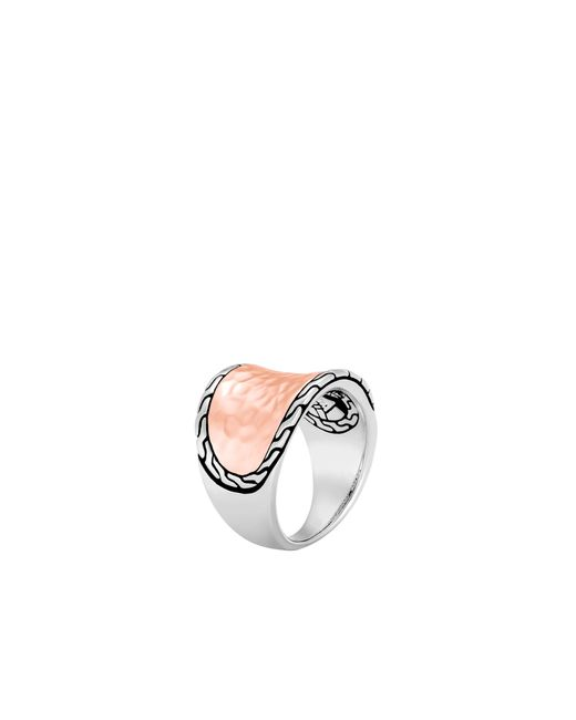 John Hardy | Multicolor Classic Chain Hammered Saddle Ring | Lyst
