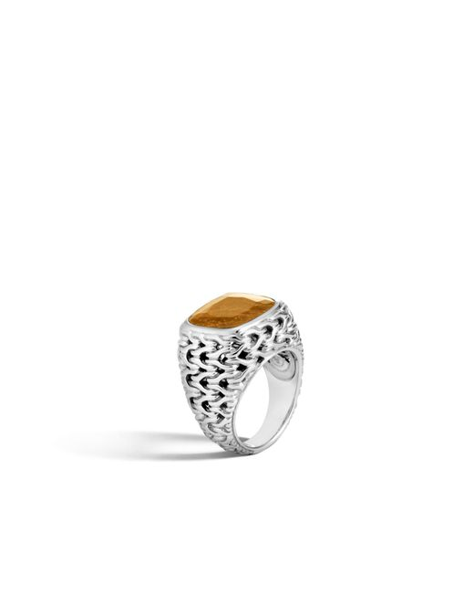 John Hardy - Metallic Magic Cut Ring In Silver With Golden Sheen Sapphire - Lyst