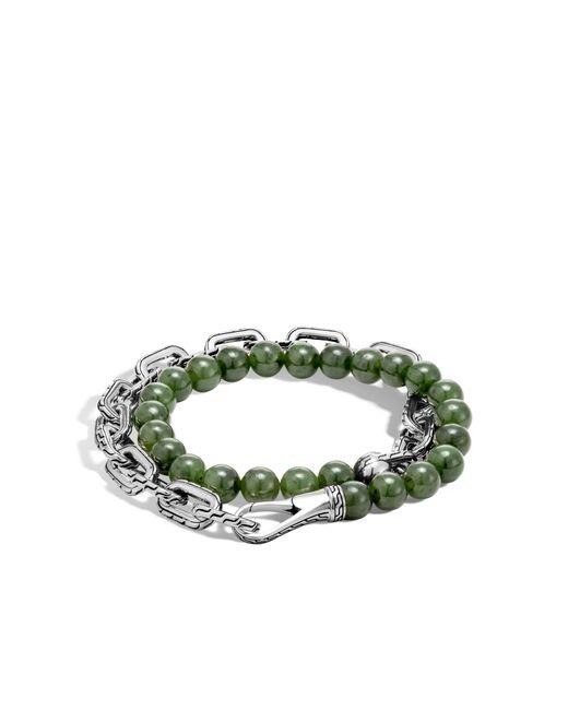 John Hardy   Green Classic Chain Wrap Bracelet With Nephrite Jade for Men   Lyst