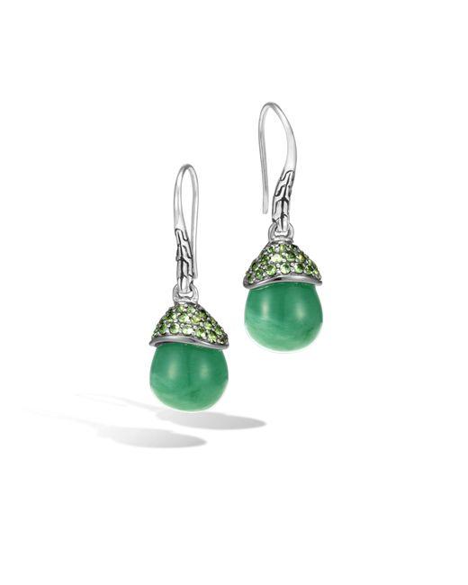 John Hardy | Celestial Orb Drop Earring With Green Jade | Lyst