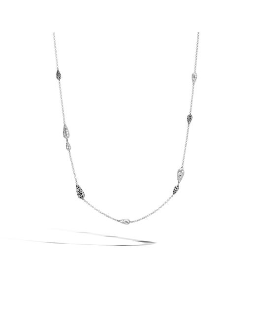 John Hardy | Multicolor Classic Chain Hammered Station Necklace | Lyst