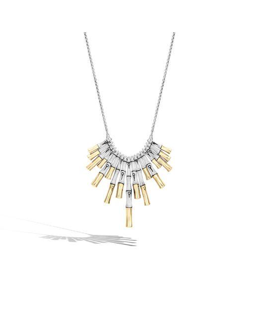John Hardy | Metallic Brushed Bib Necklace | Lyst
