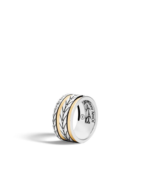 John Hardy | Metallic Modern Chain Band Ring | Lyst