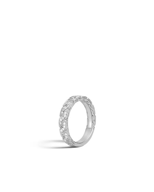 John Hardy - Multicolor Classic Chain Band Ring With Diamonds for Men - Lyst